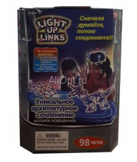 СВЕТЯЩИЙСЯ КОНСТРУКТОР LIGHT UP LINKS 98 ЧАСТЕЙ Оптом