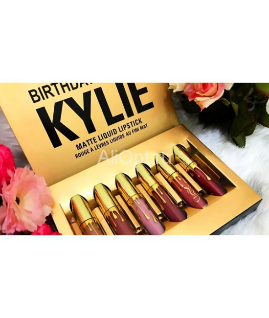Набор помад Birthday Edition Kylie (6 в 1) оптом