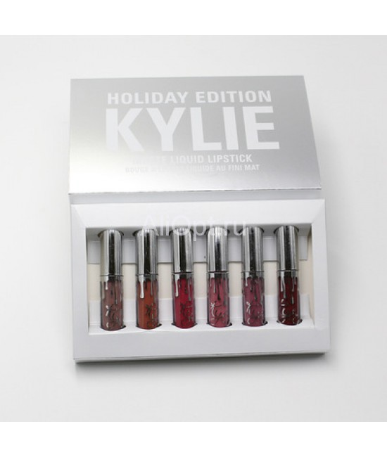 НАБОР ПОМАД KYLIE HOLIDAY EDITION 6 ШТ оптом